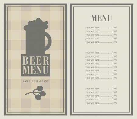 retro menu with beer mug Stock Vector - 21823261