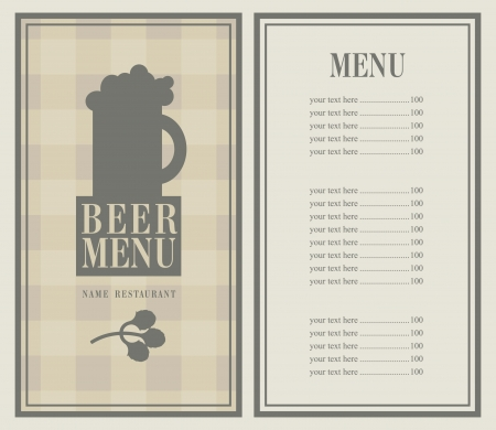 retro menu with beer mug Stock Vector - 21823261
