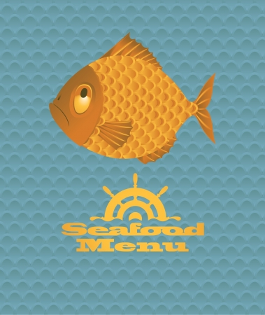 Banner of the fish Vector
