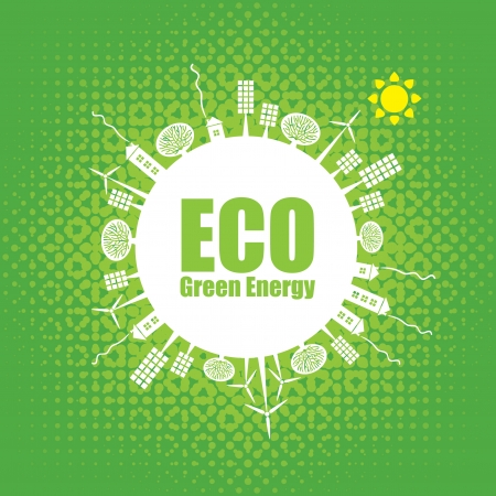 sources: eco banner of alternative energy sources