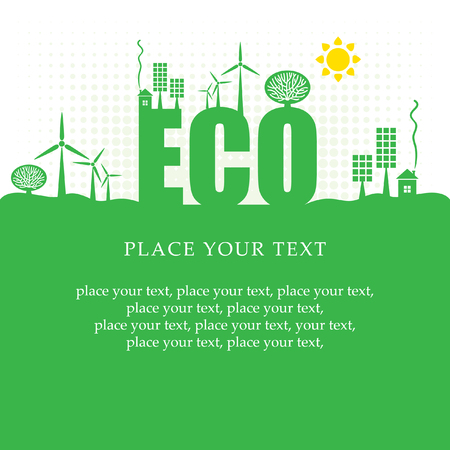 alternative energy sources: eco banner of alternative energy sources