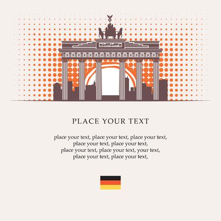 Banner met de Brandenburger Tor in Berlijn