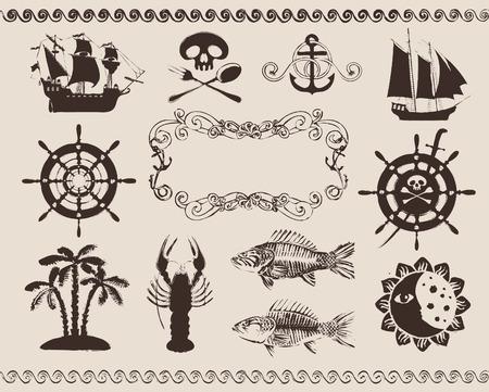 nautical flags: design elements to the marine theme