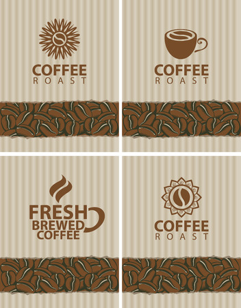 coffee shop: set of labels for coffee beans