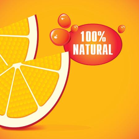 multivitamin: Fresh and two orange slices Illustration