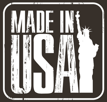 Made in USA grunge rubber stamp on black background Vector