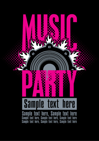 Playbill for the musical party with speaker Vector