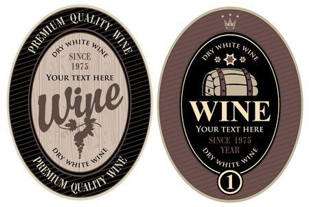 cask: two labels for wine cask Illustration