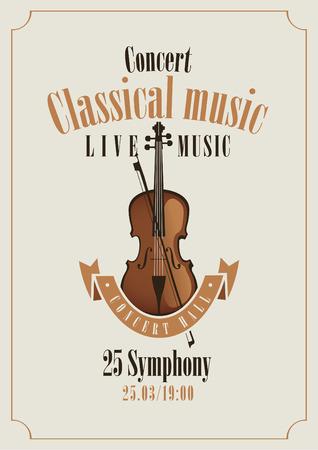 musica clasica: cartel de un concierto de música clásica con violín