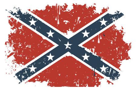 rebel: Confederate Rebel flag Grunge