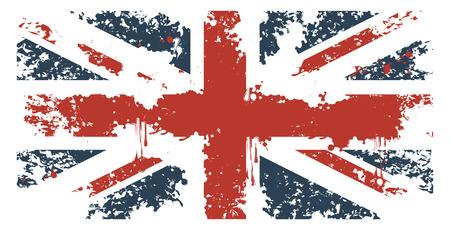 グランジ テクスチャと英国旗