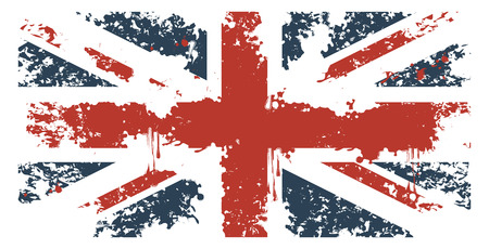 union jack: Britain flag with grunge texture