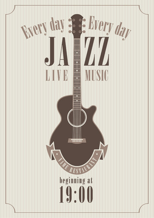 poster for a jazz concert with saxophone for music restaurants Vector