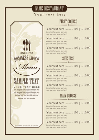 menu template with chef\\\\ Vector