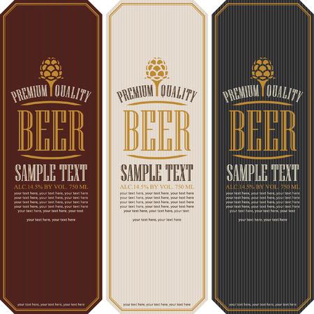 cerveza negra: establecer las etiquetas de la cerveza en un estilo retro con malta
