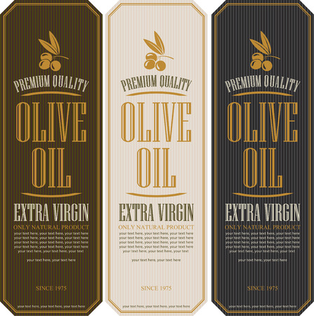 oil paintings: set of labels for olive oils