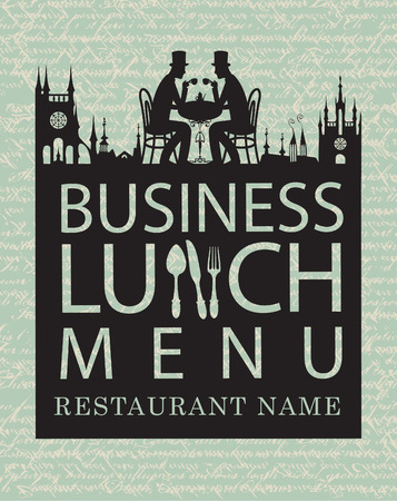 business dinner: menu for business lunches with old town and gentlemen diners