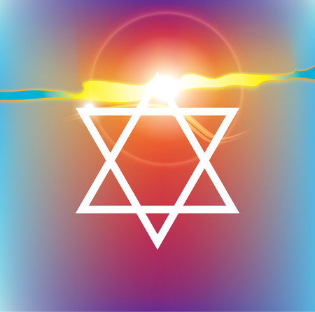 jews: star of david against the background of the sunny sky
