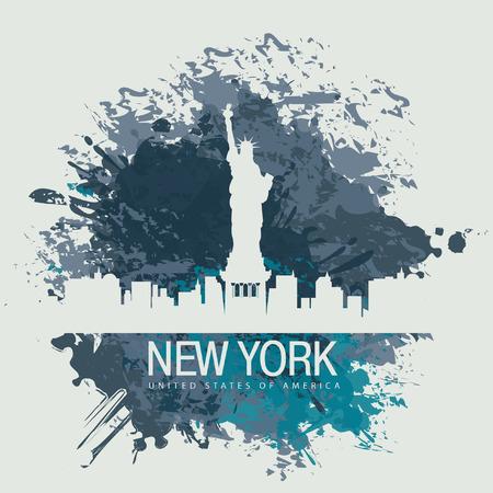 Banner mit der New York City Freiheitsstatue Vektorgrafik