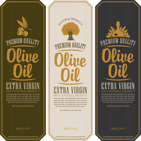 set of labels for olive oils
