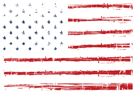 vector grunge texture flag of United States America