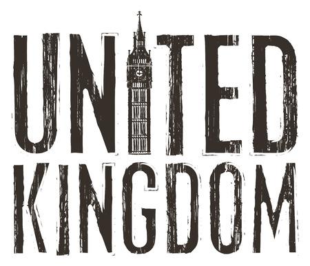 house coats: inscription United Kingdom with the Big Ben