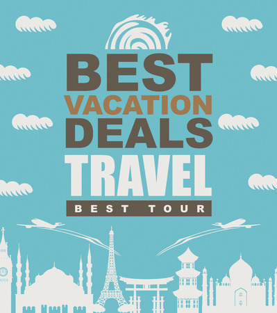 miyajima: banner best vacation deals for traveling with architectural landmarks Illustration