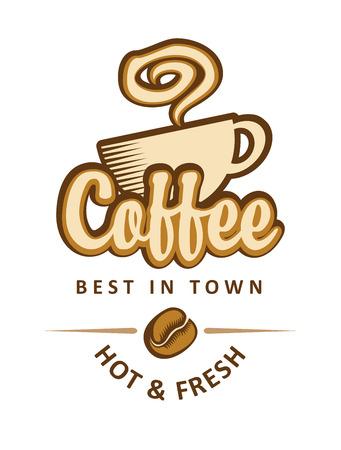 Bannière avec une tasse de café et les fèves Banque d'images - 40923021