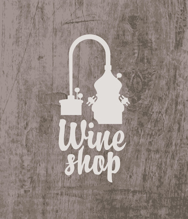 planking: vector label for wine with a tap Illustration