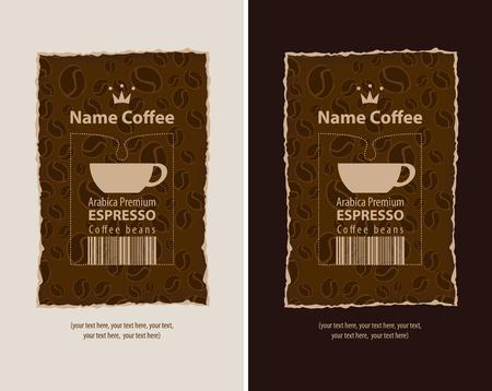 chicchi di caff?: set di etichette di progettazione per il caffè Vettoriali