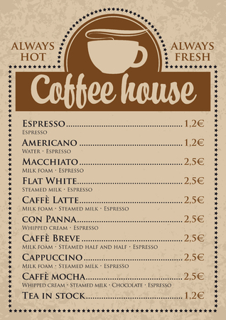coffee cups: prices for coffee cups with a coffee house