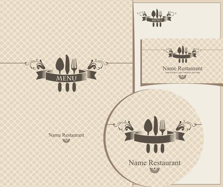 set of design elements for the cafe or restaurant