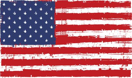 banderas america: vector de la bandera del grunge textura de los Estados Unidos de América