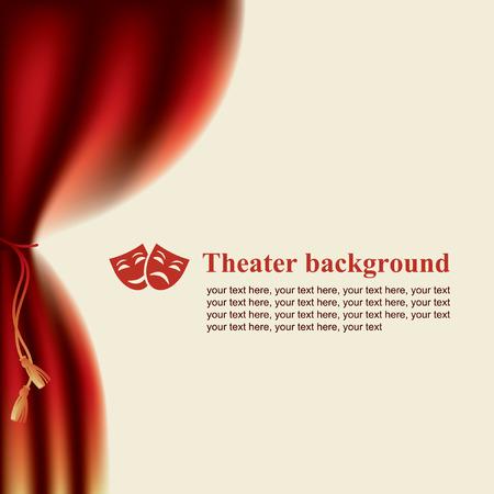 Programa de mano con las escenas y las máscaras de teatro Foto de archivo - 49965147