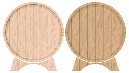 set vector drawing barrels for beer or wine