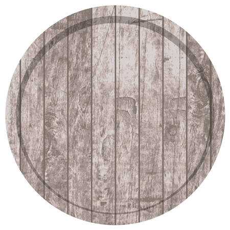 vector drawing barrels for beer or wine