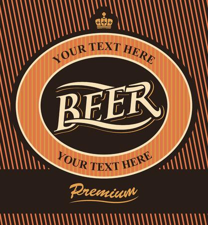 étiquette de bière avec la couronne dans le style vintage