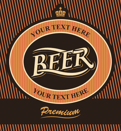 beer label with crown in vintage style