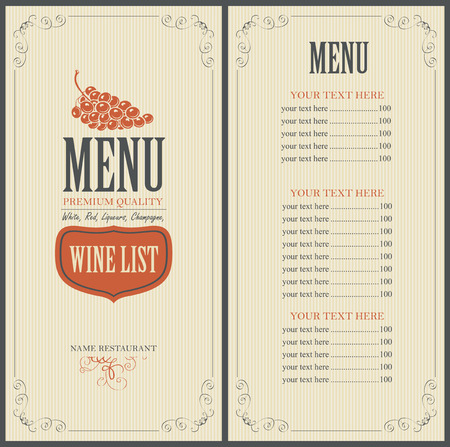 Weinkarte mit einer Weintraube