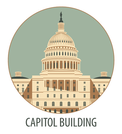 dc: Vector illustration Capitol Building in Washington, DC Illustration