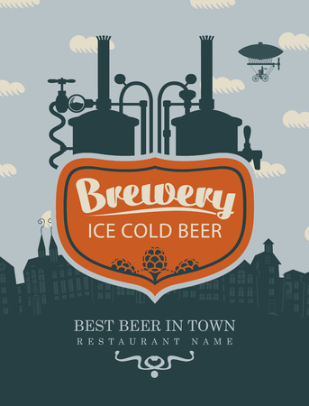 old town: sign for the brewery beer in old town