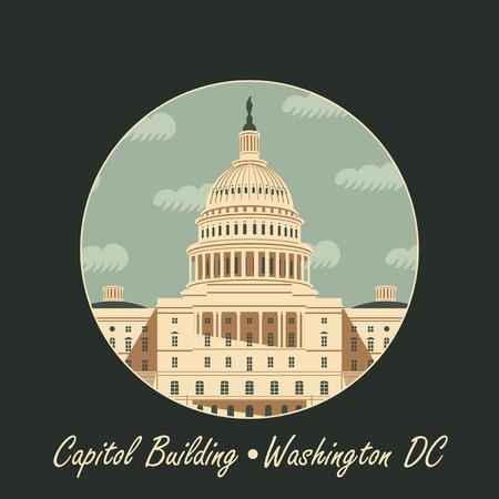 capitol building: Vector illustration Capitol Building in Washington, DC Illustration