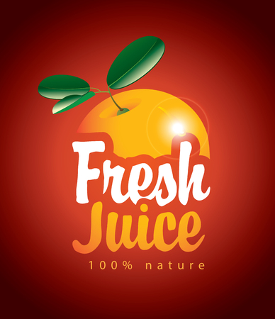 fresh: vector banners for fresh juice with a picture orange