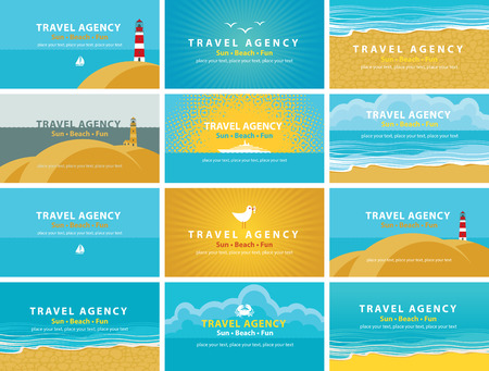 travel backgrounds: set of backgrounds for business cards for travel agency business cards for travel agency