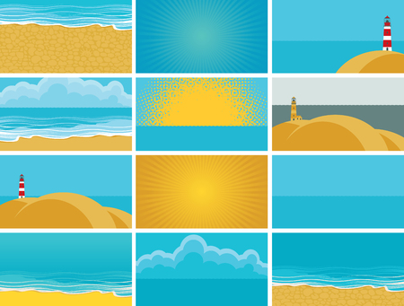 travel backgrounds: set of backgrounds for business cards for travel agency