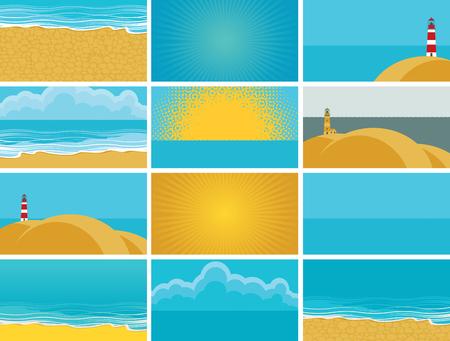 agencia de viajes: set of backgrounds for business cards for travel agency