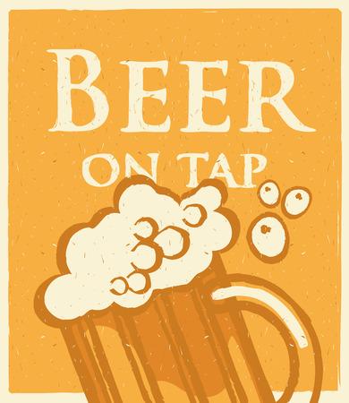 retro glasses: beer glasses for the bar in retro style Illustration