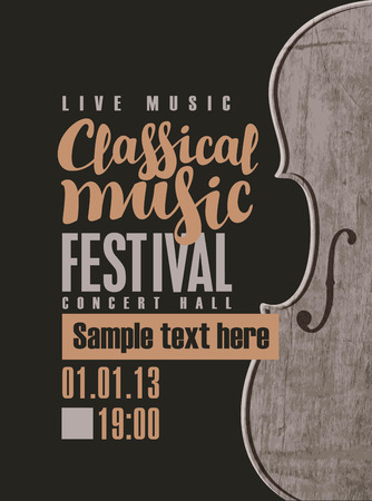 Music Concert Poster For A Of Classical With The