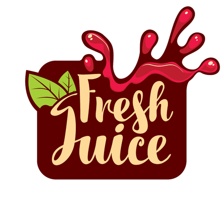 savory: vector banner with a spray of fresh juice Illustration