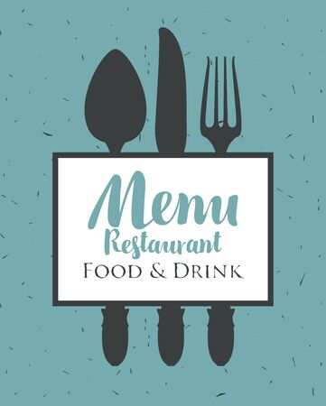 spun: banner for a restaurant menu with cutlery